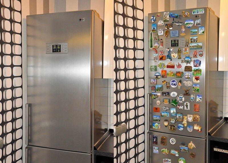 Можно ли вешать магниты на холодильник?