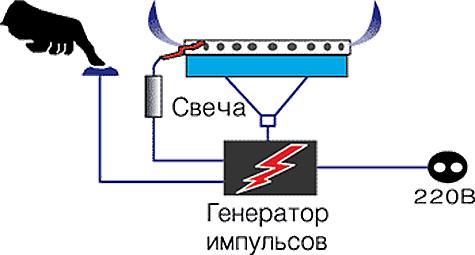 Электроподжиг для газовой плиты