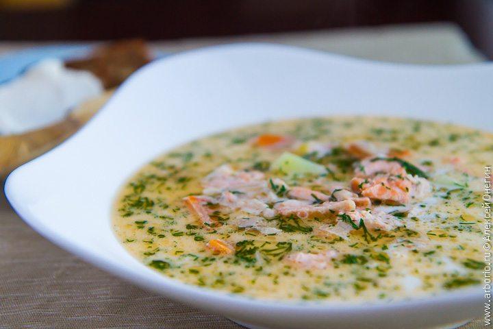 Суп из лосося с гречкой