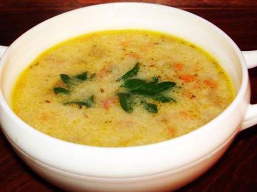 Суп с ветчиной и овощами