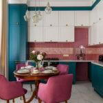 Интересные цвета кухни